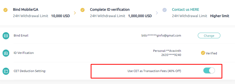 coinex exchange cet coin uses